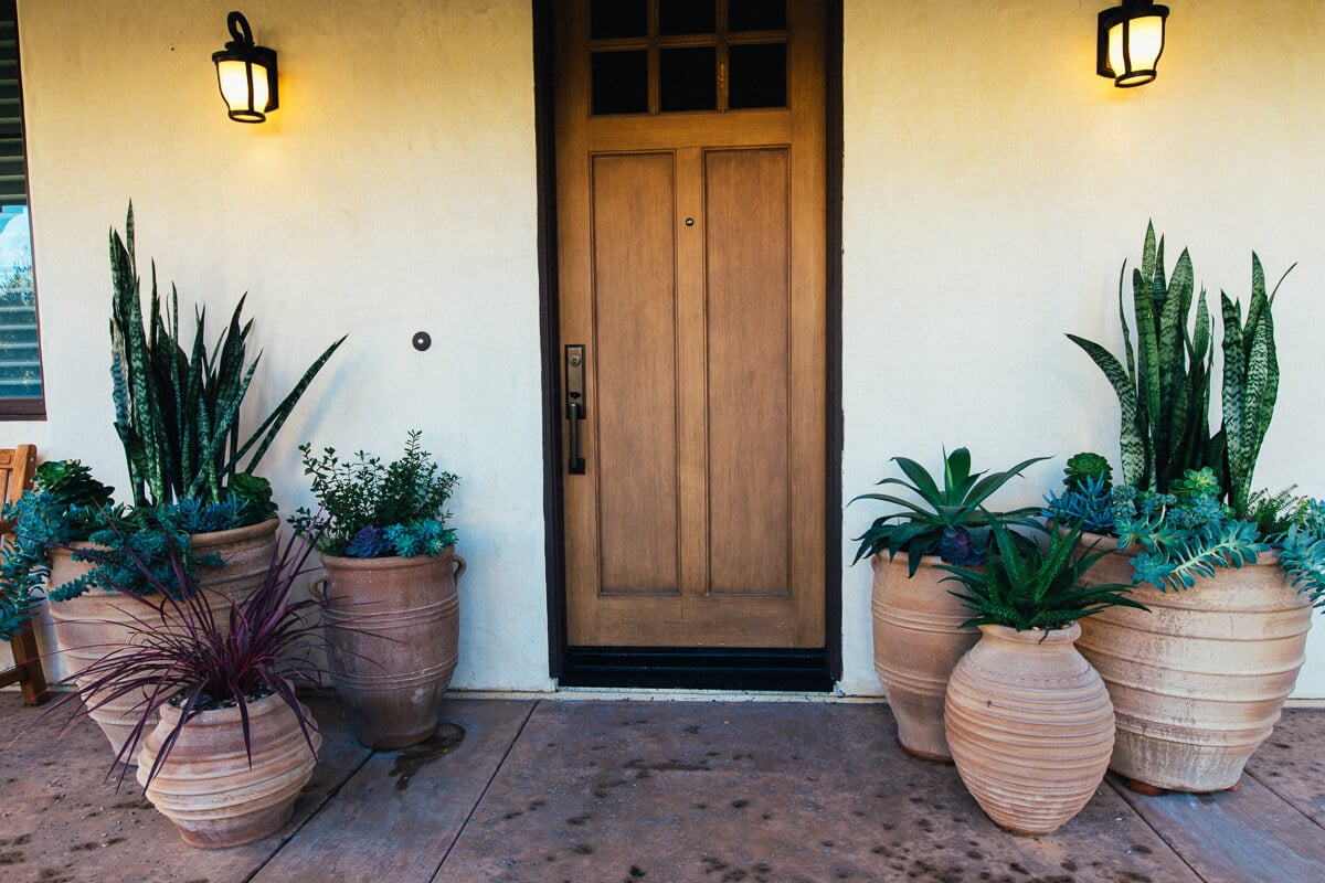 Entry with Decorative Pots