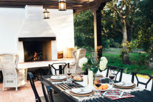 Fire Feature for Outdoor Dining