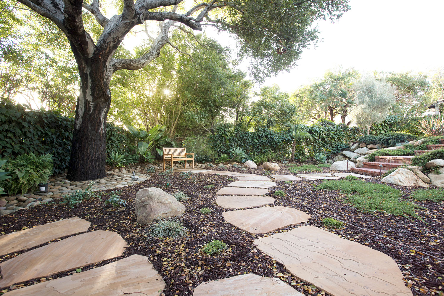 Stone Paths and Gardens