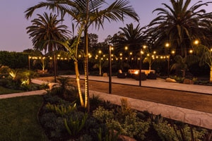 Landscape Lighting and UplightingAround Bocce Court