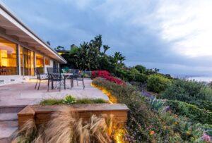 flagstone patio and garden on rthe mesa